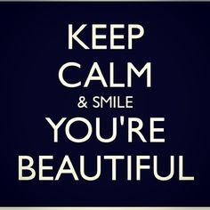 You're beautiful!! <3