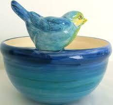 Resultado de imagem para Pássaro Cerâmica Branco