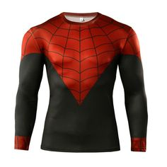 The unique Spider-man Rash Guard T-shirt Jersey Gym Fitness Crossfit  -   #collectiblesworkout #compression #crossfit #fitness #forgym #loot #merch #merchandise #rashguard #rashguards #rashguard #rashguards #spider-man #spiderman #training #Workout
