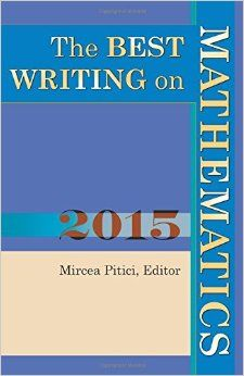 The best writing on mathematics 2015 Mircea Pitici, editor EMS 2016