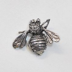 Vintage Bumble Bee Pin in Sterling Silver