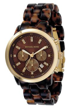 OMG I love this MIchael Kors Resin Chronograph Watch!!! $250