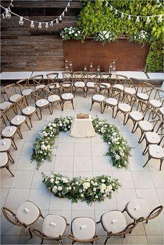25 rustikale Outdoor Hochzeitszeremonie Dekorationen Ideen