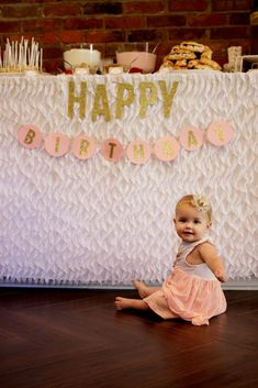 Pink and Gold First Birthday Party - Project Nursery