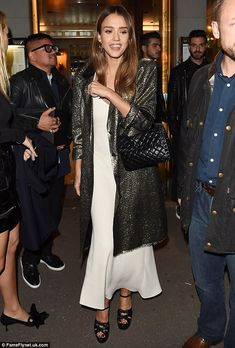 Step it up in Saint Laurent platforms like Jessica #DailyMail Click 'Visit' to buy now