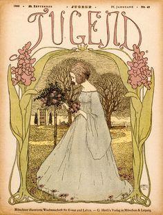 Jugend  Jugend Magazine 30 September 1899 Print Jugend means Youth in German. This was a magazine of the german version of art nouveau artists and art.