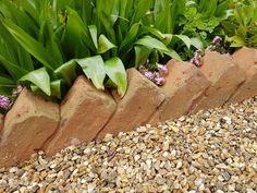 Brick Garden, Garden Arbor, Garden Edging, Garden Borders, Garden Paths, Lawn Edging, Types Of Bricks, Wood Arbor, Brick Edging