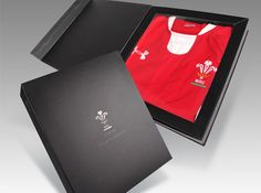 Welsh Rugby Union Shirt Presentation Box - a creative packaging solution produced by Cedar Packaging