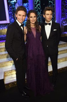 Pin for Later: The Cutest and Most Random Celebrity Run-Ins at the SAG Awards Eddie Redmayne, Keira Knightley, and James Righton