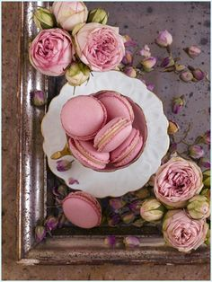 Rose Macarons by @Anges de Sucre