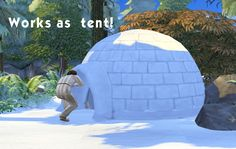 Igloo (fonctionne comme une tente)