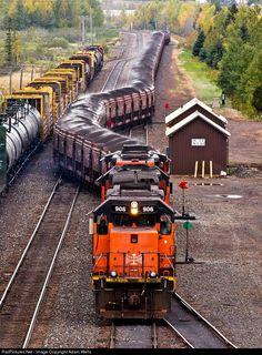 RailPictures.Net Photo: BLE 906 Bessemer & Lake Erie Railroad EMD SD40T-3 at Proctor, Minnesota by Adam Wells