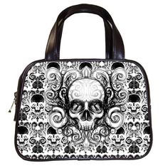 Skull Damask Hand Bag by Stuff of the Dead