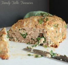 This Healthy Turkey Meatloaf is mixed with Spinach & Herbs and just the right amount of seasoning to give you a mouthful of flavor in every bite!