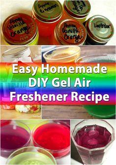 DIY Home Freshener ~ Easy Homemade DIY Gel Air Freshener Recipe