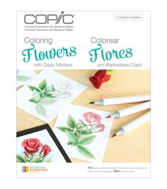 Learn how to color professionally from the Marianne Walker Coloring Flowers Book. This book has various coloring techniques, from simple to complex, which you can apply to create artistically colored