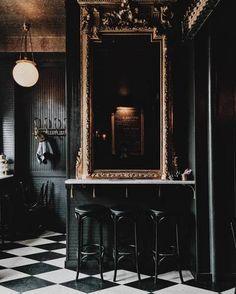 Black Paint Inspiration – Dark Wall Home Painting Ideas - New Deko Sites Home Design, Home Interior Design, Interior And Exterior, Interior Decorating, Decorating Tips, Design Ideas, Ad Design, Decorating Websites, Cafe Interior