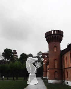 Luciano Cina Adds Imaginative Drawings to his Photos of Turin. #photography #drawings #doodles #turin #italy #iconicbuildings #lucianocina