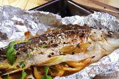 Receita de Peixe assado recheado - Comida e Receitas