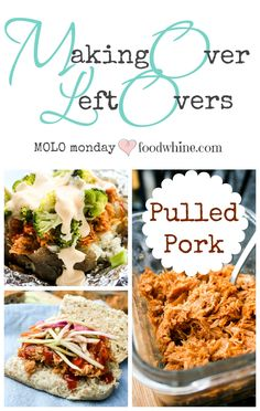 Making Over Leftover Pulled Pork into sandwiches, baked potatoes, and more! #MOLOmonday
