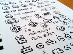 Robot logo sketches go! Logo Design, Graphic Design Layouts, Graphic Design Inspiration, Icon Design, Sketch Inspiration, Graphic Art, Typo Logo, Logo Branding, Typography