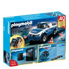 Coche policía con cámara radiocontrol Playmobil