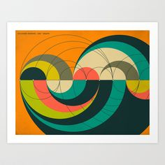 GOLDNER-HARARY ARC GRAPH Art Print by Jazzberry Blue - $19.00