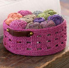 Crochet Bricks Storage Basket Free Pattern
