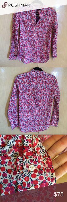 "J.Crew Liberty Art Fabrics Wiltshire Top Sz 2 NWT J.Crew Ruffle popover shirt in Liberty Art Fabrics Wiltshire print. Size 2 (XS) Bust - 33 1/2"" Waist - 26"" Length - 27 7/8"" Retail $118 Brand new / new worn condition! J. Crew Tops Blouses"