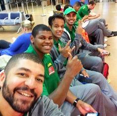 Rubro-negros convocados embarcam para Sul-Americano de basquete