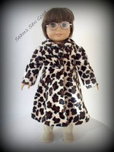 befff0bf789 AGD or 18 Doll Leopard Coat by SeamsSewGood on Etsy