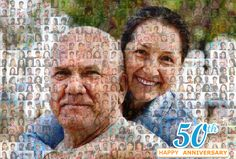 50th Wedding Anniversary Collage Custom Photo Mosaic, Personalized Mosaic, Unique Gift Collage, Photo Collage, Gift for Her, Birthday Gifts 50th Wedding Anniversary, Happy Anniversary, Photo Collage Gift, Photo Mosaic, Custom Photo, Gifts For Her, Birthday Gifts, Unique Gifts, Happy Brithday