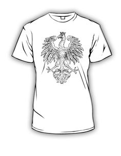 koszulki patriotyczne przedstawiające godło polski z 1917 r. Poland patriotic t-shirt