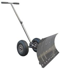 Heavy Duty Rolling Snow Shovel with Rotatable Steel Blade, 5 Way Adjustable Handle and Extra Large Rubber Wheels for Easy Rolling. Color Grey > 2 Large Inflatable Wheels makes very Stable and Great for No Back Stress Move Large and Small Amounts of Snow Easily 4x Faster then Regular Shovel Check more at http://farmgardensuperstore.com/product/heavy-duty-rolling-snow-shovel-with-rotatable-steel-blade-5-way-adjustable-handle-and-extra-large-rubber-wheels-for-easy-rolling-color-grey/