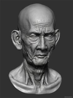 Cambodian Monk Head Study by Andor Kollar | Zbrush Tuts