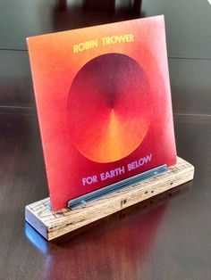 Vinyl Record Display Stand by SproutedSteel on Etsy