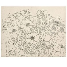 """Nell Blaine """"Japanese Anemones"""" Etching 3/44 1983 