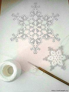 Com Crochet Snowflake Pattern & SkillOfKing.Com The post Crochet Snowflake Pattern & SkillOfKing.Com appeared first on Belle Ouellette. Crochet Snowflake Pattern, Crochet Stars, Crochet Snowflakes, Thread Crochet, Crochet Motif, Crochet Crafts, Crochet Doilies, Crochet Flowers, Crochet Lace