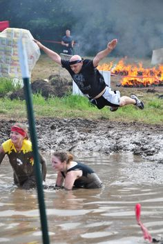 Warrior Dash Mud Jump - Conquered!!