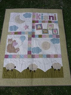 Coser y Coser Patchwork: Colcha para Kiani..... Baby Patchwork Quilt, Baby Boy Quilts, Girls Quilts, Applique Quilts, Colchas Quilt, Patch Quilt, Quilt Blocks, Sewing Machine Quilting, Hand Quilting