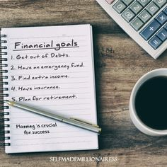 """@selfmademillionairess posted on their Instagram profile: """"#longertermgoals #futuregosls #winnersthings #selfmademillionairess #bossmodeon😎 #thepursuitofgoals…"""" Financial Planner, Financial Goals, High Yield Savings, Hanging Mason Jars, Create A Budget, In Case Of Emergency, Retirement Planning, What Is Life About, Peace Of Mind"""