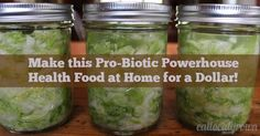 EatLocalGrown.com: How to Make Probiotics/Lacto-fermented Sauerkraut for One Dollar - Not only is this recipe cheap to make, it's extremely easy and delicious!