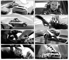 Black Panther was good! It also looked good, so I figured I'd showcase the work of a number of artists involved with the film's production, giving us a look at how the costumes and environments of Wakanda went from the drawing board to the big screen. Storyboard Examples, Storyboard Drawing, Storyboard Artist, Black Panther Book, Black Panther Marvel, Art Inspiration Drawing, Character Design Inspiration, Moebius Art, Comic Book Layout