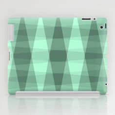 Foliage iPad Case #pattern #shape #green #shades #patterns #shapes #triangles #teal #turquoise #mint #checkered #design #society6 #ipad #case #cover #apple
