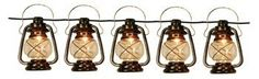 Patio String Lights Oil Lantern Style Indoor Outdoor by Wilcor. $33.29. Uses C7 Bulbs. Attach multiple sets together for longer lengths. Set of 5 lantern lights with 12ft electric cord. Each lantern measures about 5 ½ in x 3 ½ in, you will receive a combination of Bronze and Silver Lanterns. Great for RV's, Patios, Porches, Parties, BBQ's. Great set of rustic looking oil lantern style patio lights. 5 Lantern Lights with 12 foot electric cord.  Order multiple sets to conn...