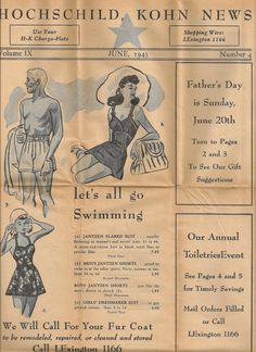 Baltimore Department Store Hochschild Kohn News 1943