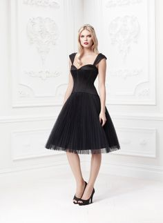 Truly Zac Posen Pleated Tulle Dress with Sweetheart Corset Bodice Style ZP285029 #davidsbridal