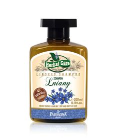 Herbal Care LinSeed Extract Phyto - Shampoo for Dry Ends & Splitting 300 ml | Formula enriched with linseed acids Omega 3 and 6, gives exceptional shine and softness of hair. Shape and softens hair depleted over to protect them from breakage | Szampon Lniany - Farmona Laboratorium Kosmetyków Naturalnych