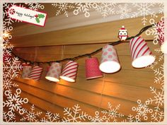 Cover Cups with Paper & Add Christmas Lights