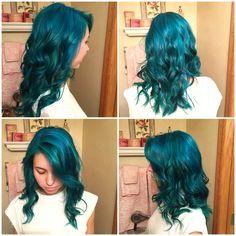 Mermaid hair. Manic Panic Atomic Turquoise and Voodoo Blue